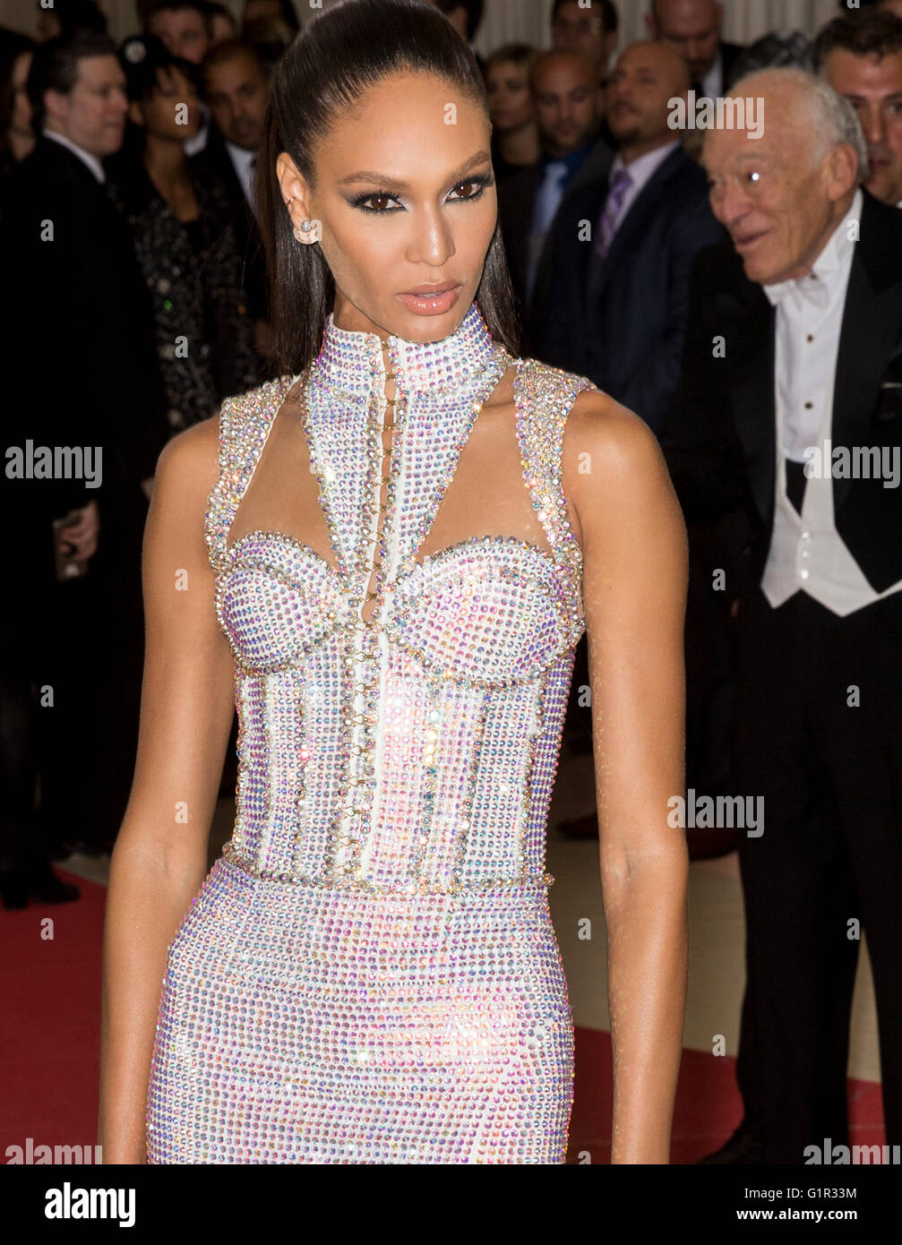 New York City, USA - May 2, 2016: Joan Smalls attends the 2016 Met Gala - Stock Image