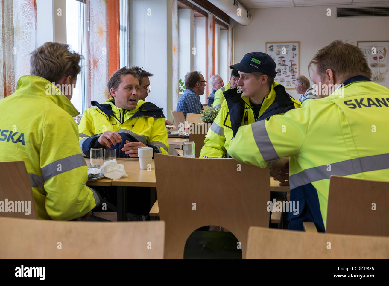 Canteen for workers - Stock Image