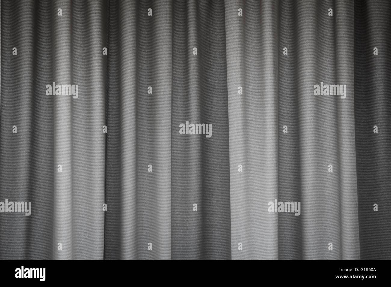 Linen Curtain - Stock Image
