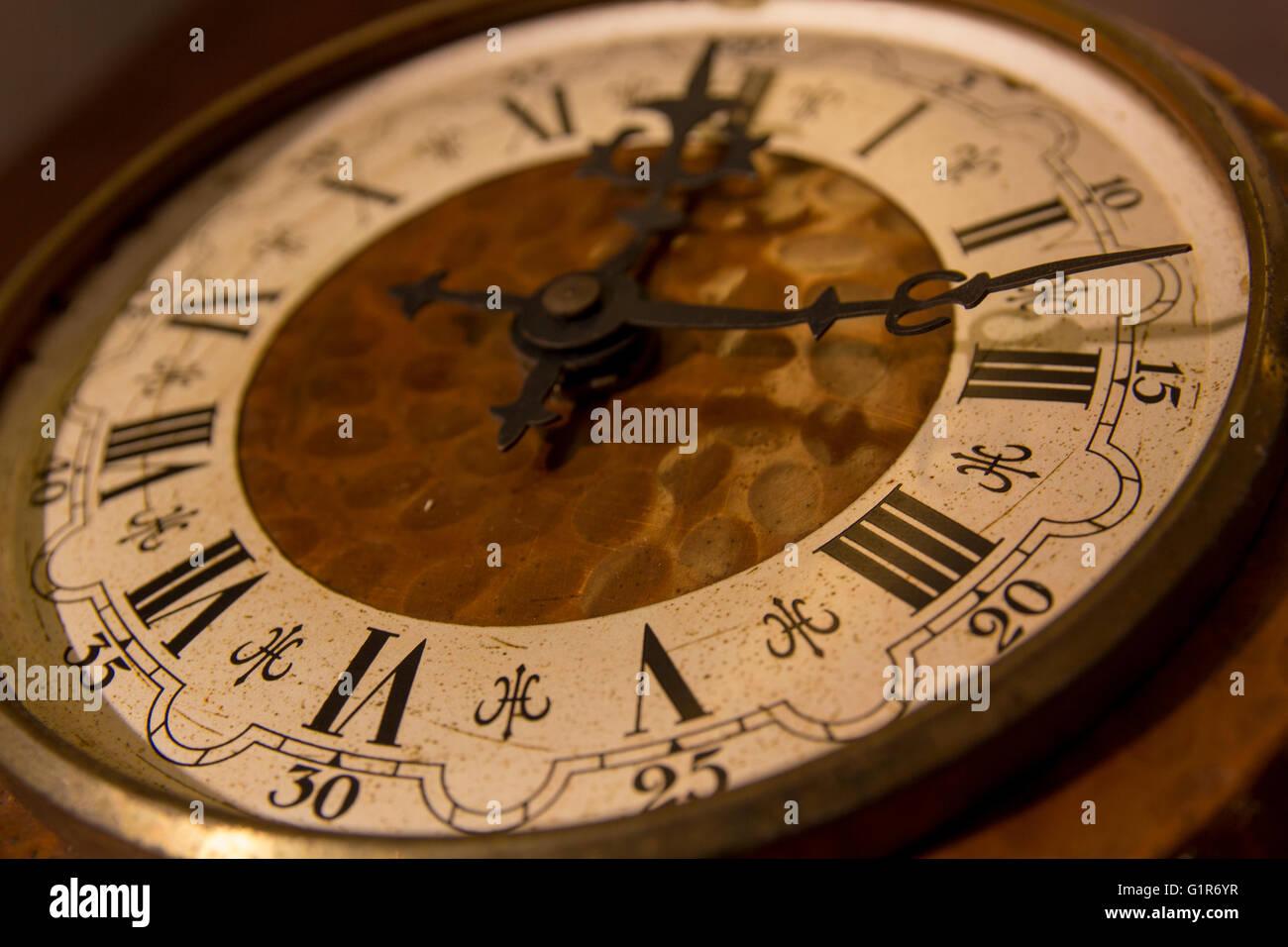 old wall clock roman numerals stock photos old wall clock roman