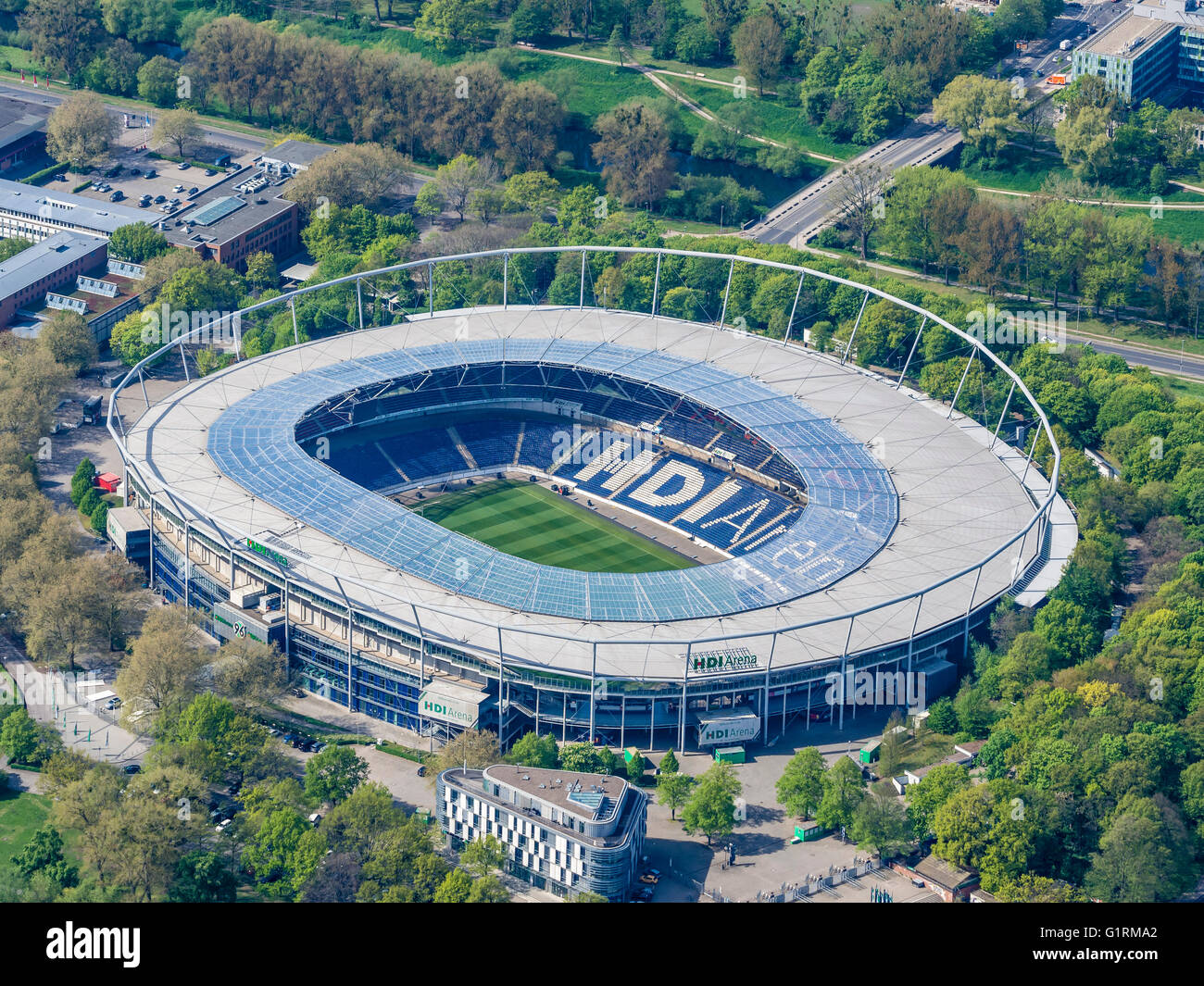 Football stadium Hanover, HDI Arena, used by club Hannover ...
