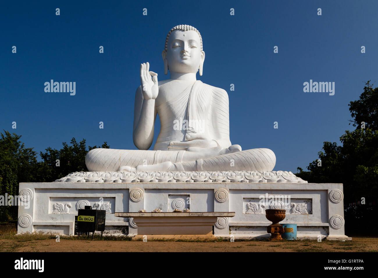Seating Buddha, Mihintale, Anuradhapura, Sri Lanka Stock Photo