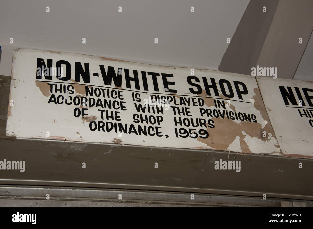 Johannesburg, South Africa 28 March 2016  One of the last Apartheid signs in the business district of Johannesburg - Stock Image