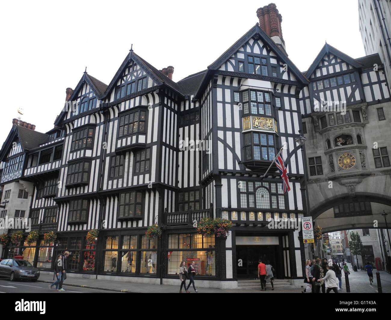 Liberty Department Store, Great Marlborough Street, London, UK - Stock Image