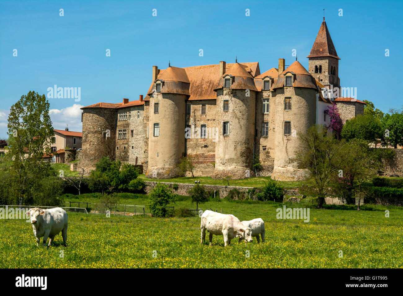 The Priory Of Pommiers  Forez  Loire  Auvergne  France Stock Photo
