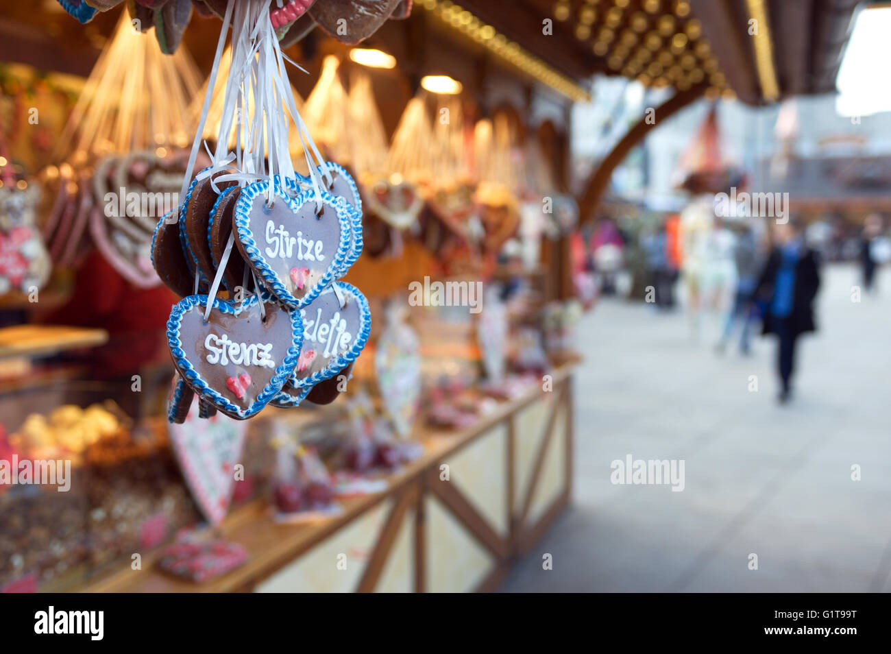 """Sweet stall in Alexanderplatz. Berliner Octoberfest in Berlin, is similar to its """"big brother in Munich"""" running Stock Photo"""
