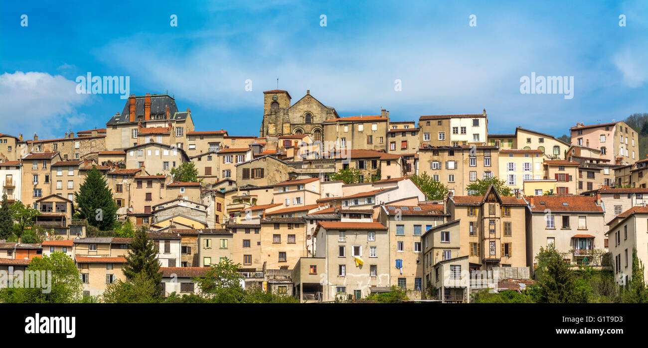 Thiers capital of cutlery, Puy de Dome, France, Auvergne, Europe - Stock Image