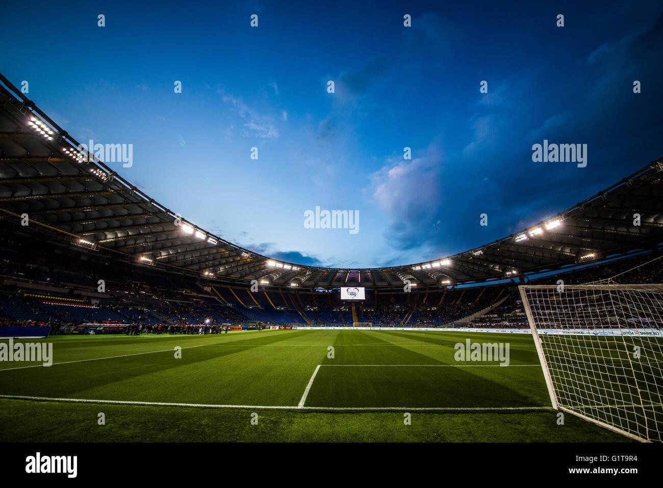 'Partita del Cuore' at Stadio Olimpico, Roma - Stock Image