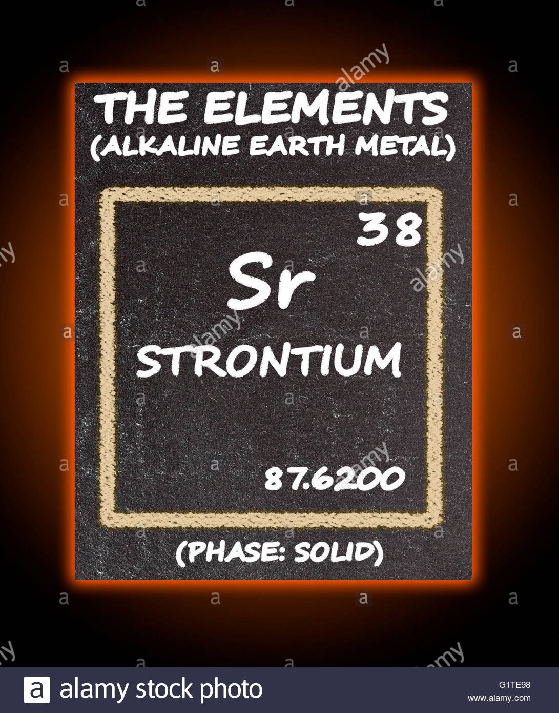 Strontium Details From The Periodic Table Stock Photo 104414948