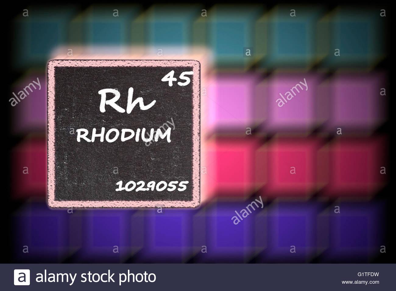 Chemical Symbol Rh Stock Photos Chemical Symbol Rh Stock Images