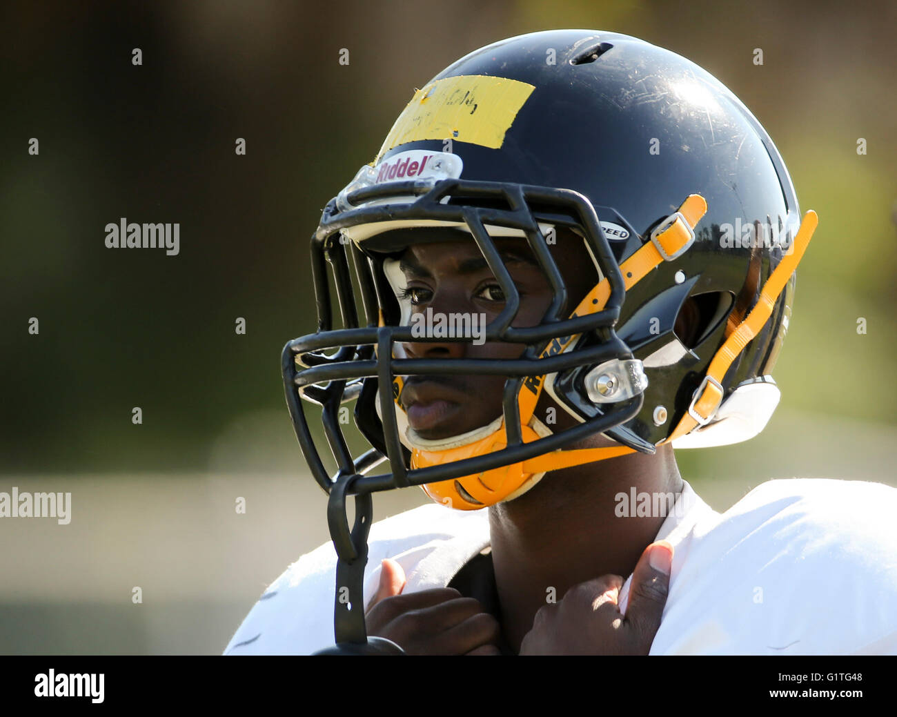 St. Petersburg, Florida, USA. 5th May, 2016. DIRK SHADD   Times .Troyvon Johnson (2) on the field during football - Stock Image