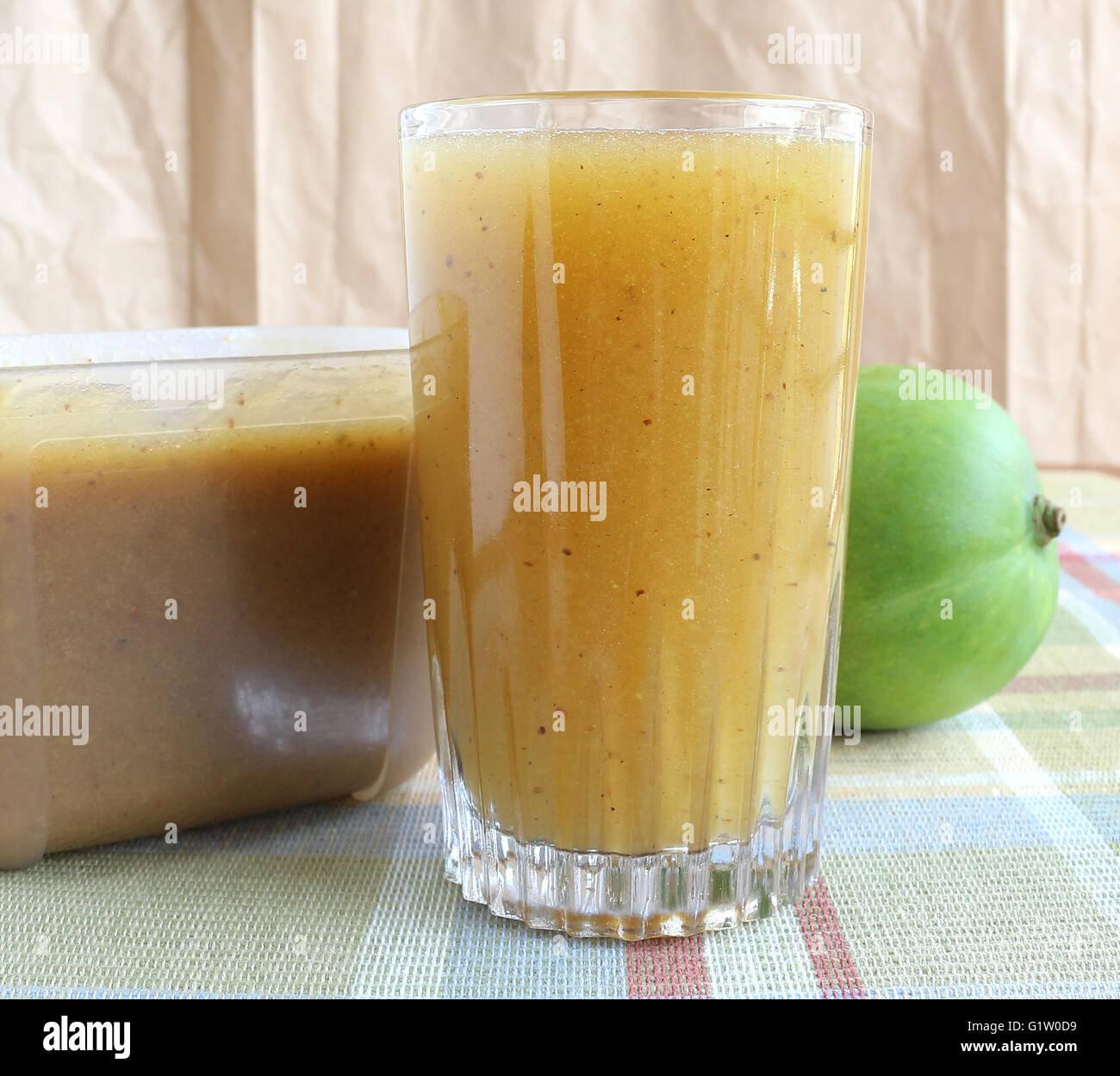 Raw Mango Juice and Concentrate - Stock Image