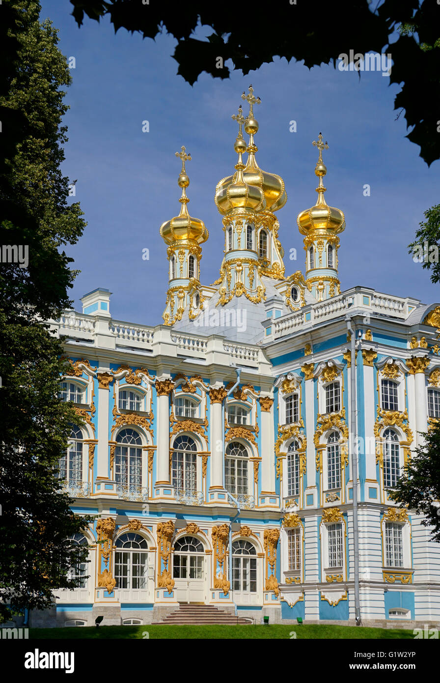 Catherine's Palace at Pushkin in St. Petersburg, Russia. - Stock Image