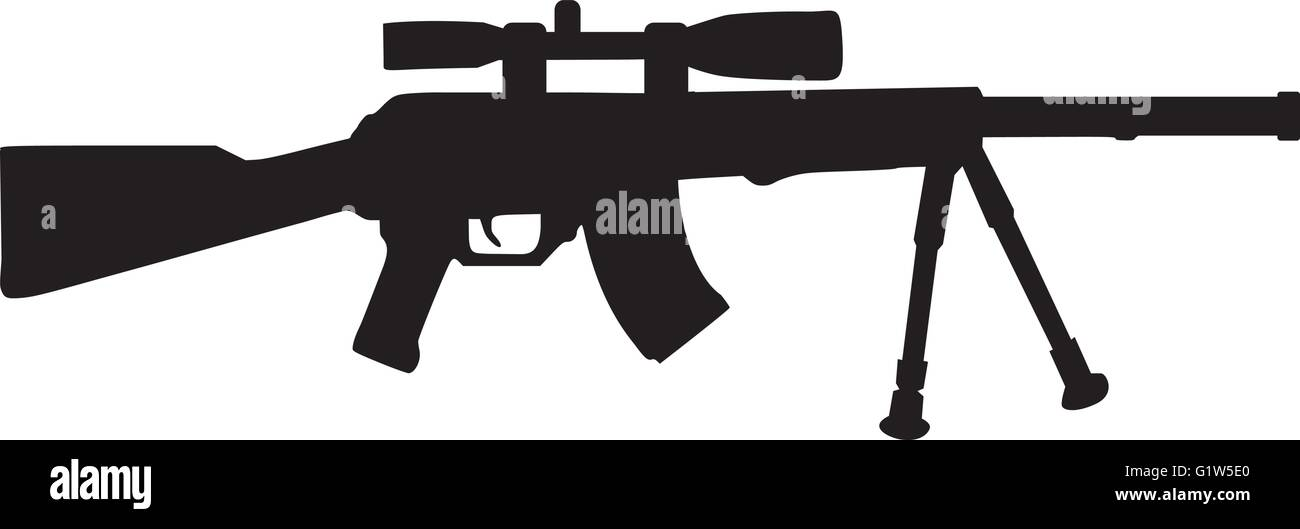 Airsoft gun - Stock Vector