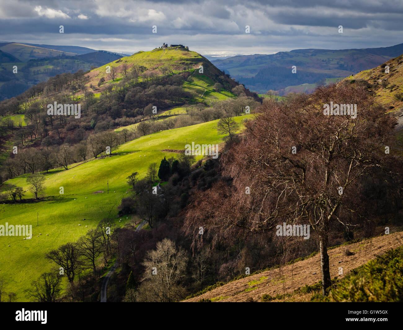 Castell Dinas Bran, Llangollen, Wales, UK Stock Photo