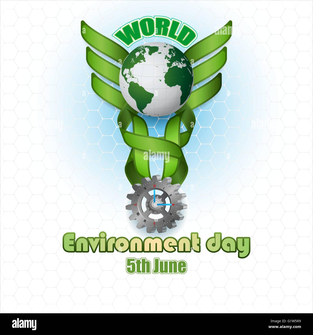 Abstract Design Background With World Environment Day Celebration