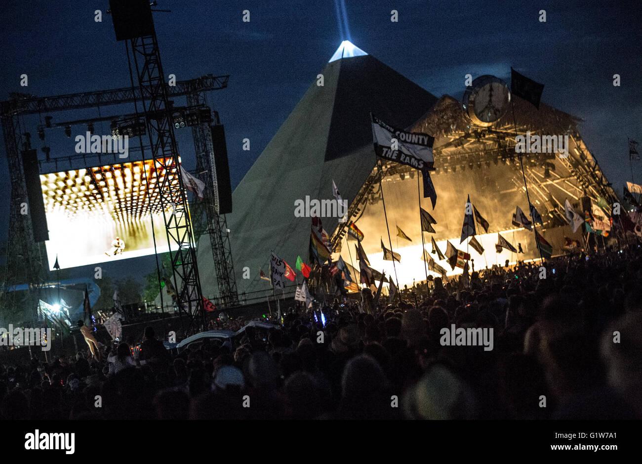 Kanye West Headlining Glastonbury Festival - Stock Image