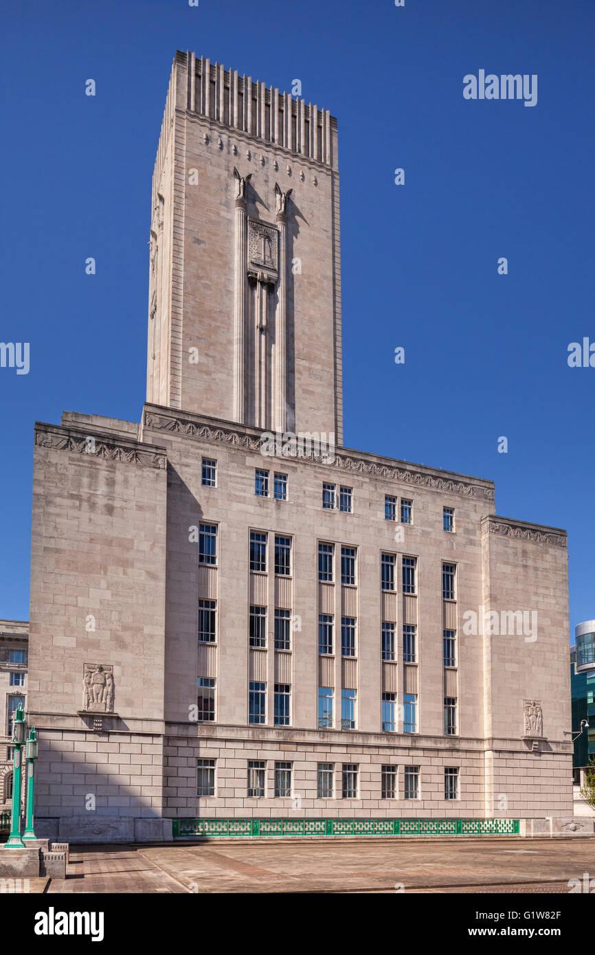 George's Dock Ventilation and Control Station, part of the ventilation system for the Queensway Tunnel under - Stock Image