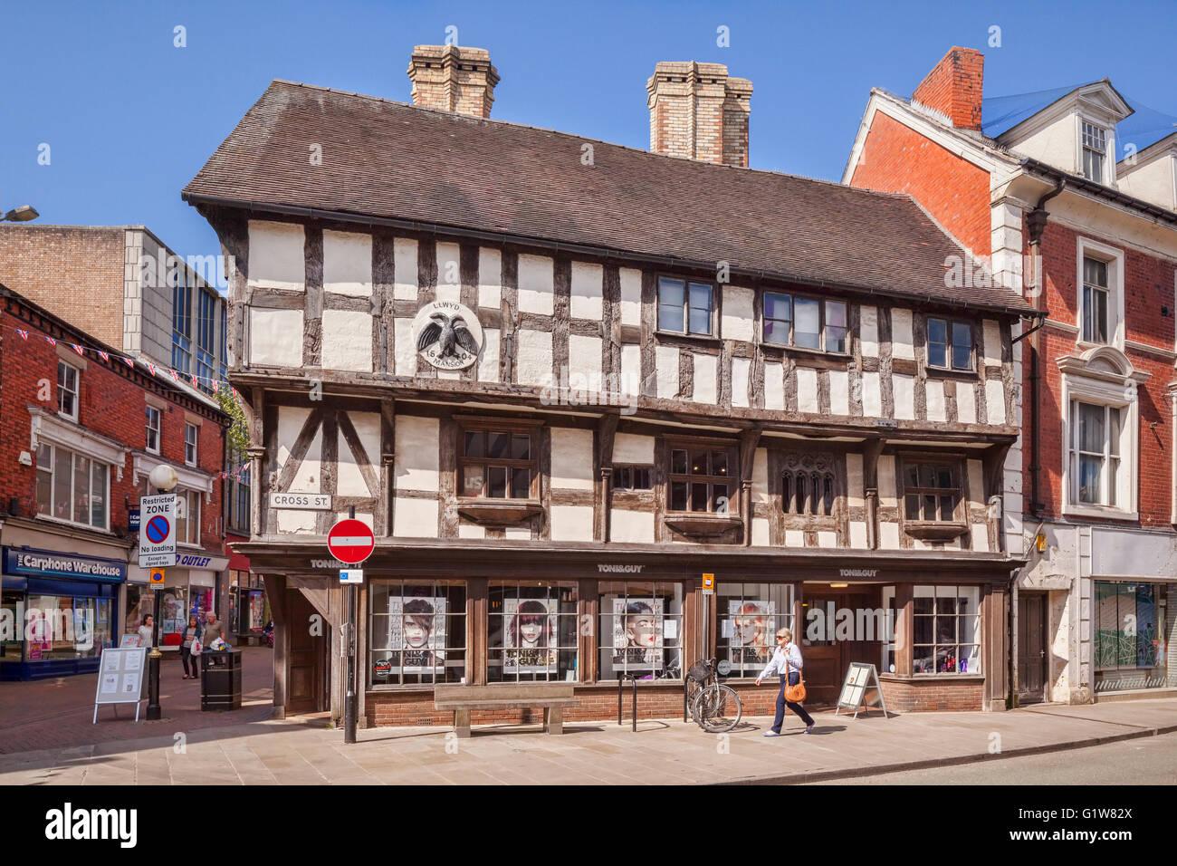 Llwyd Mansion, Cross Street, Oswestry, Shropshire, England, UK - Stock Image
