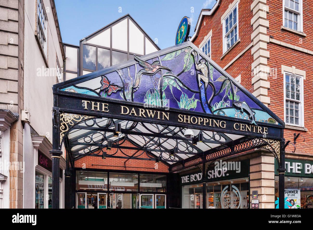 The Darwin Shopping Centre, Shrewsbury, Shropshire, England, UK - Stock Image