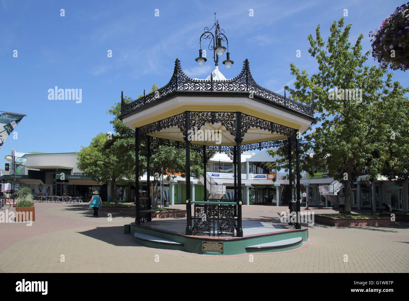 the bandstand in blenheim south island new zealand - Stock Image