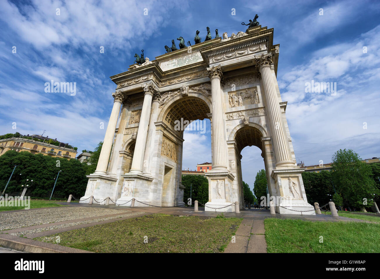 Arch of Peace, Milan, Lombardy, Italy - Stock Image