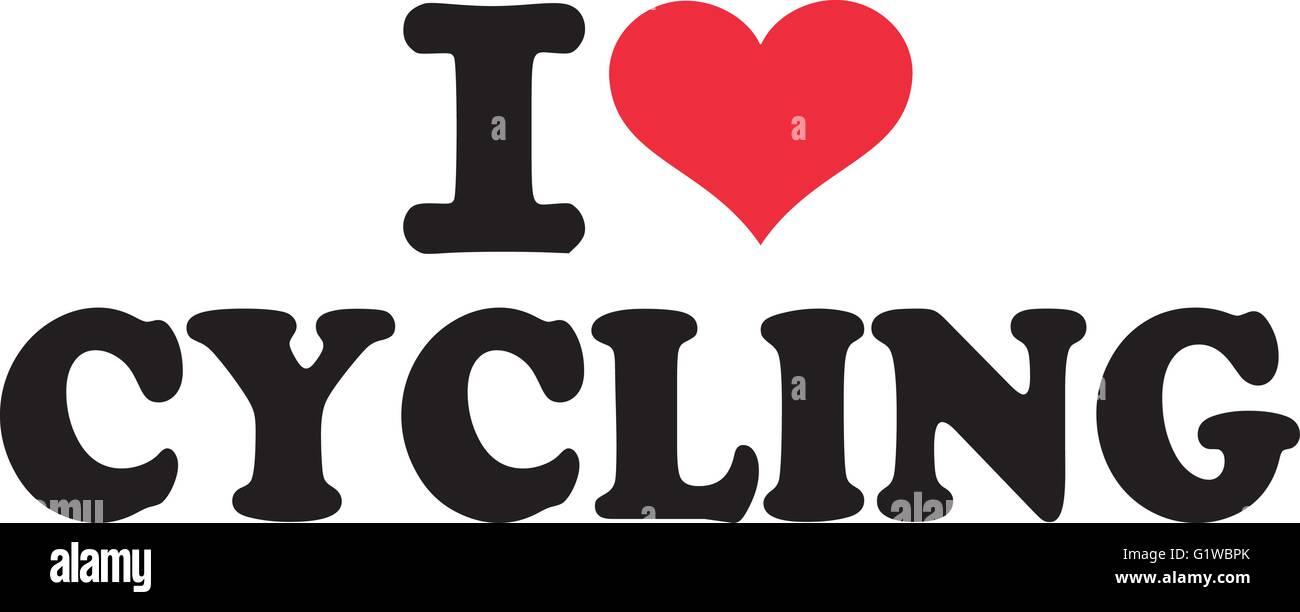I Love Cycling Stock Vector Art Illustration Vector Image