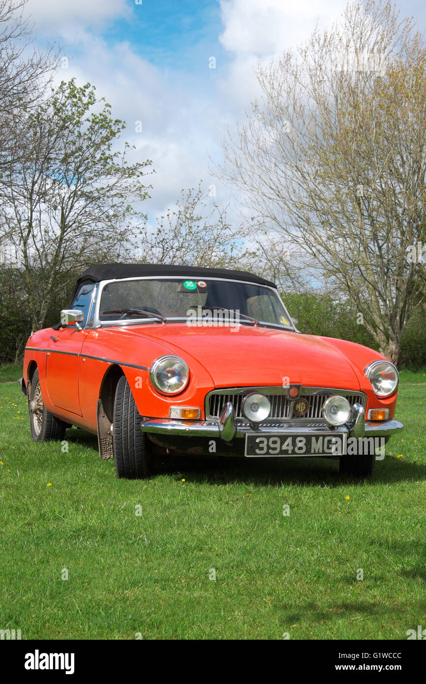 MGB Roadster sports car - Stock Image