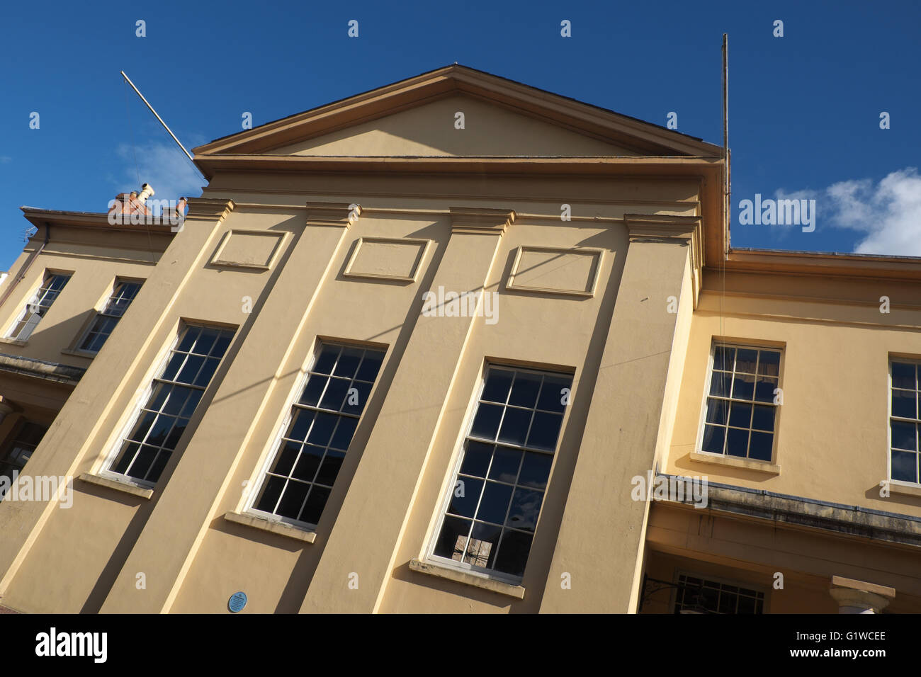 Presteigne Wales the Judge's Lodging building former Shire Hall for Radnorshire opened in 1829 - Stock Image