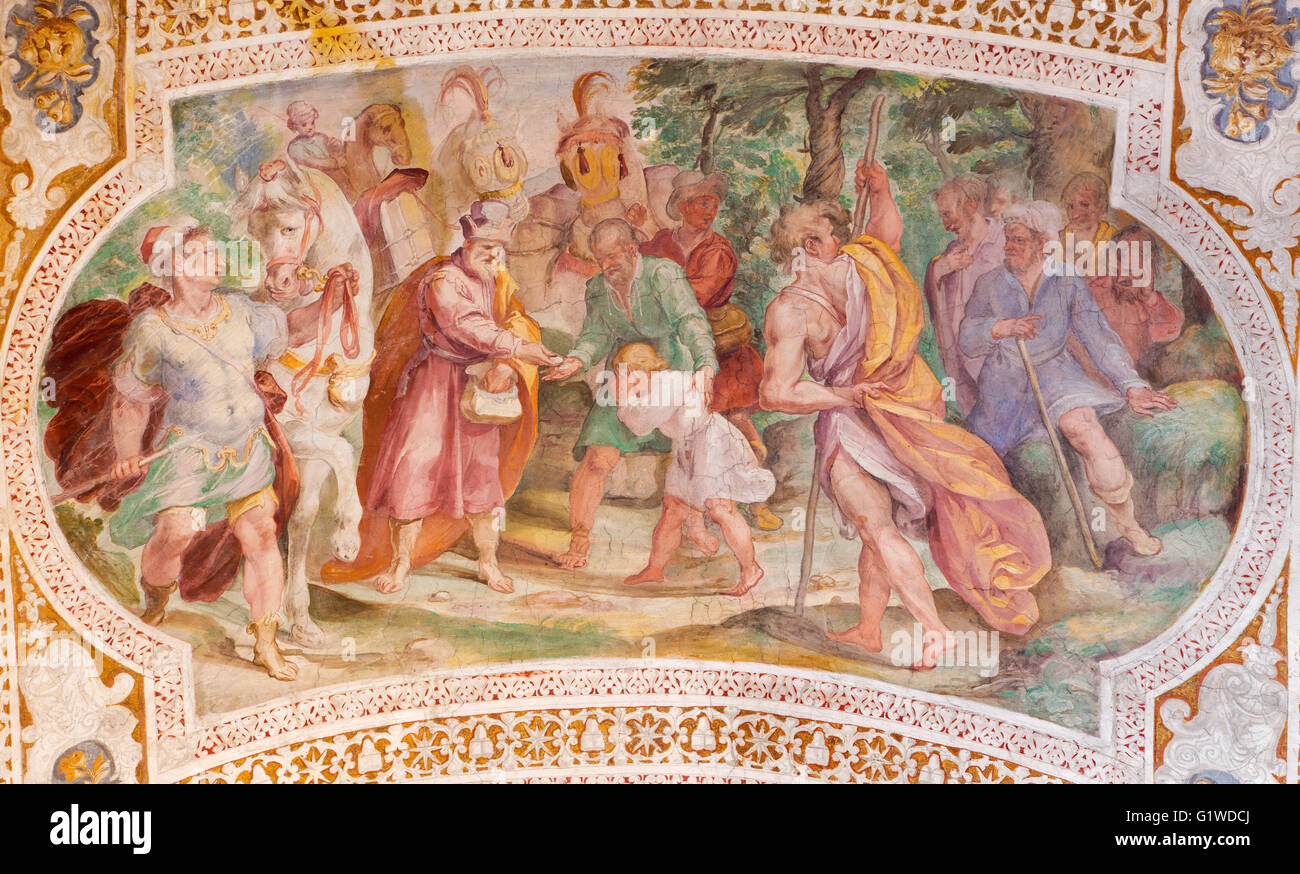 ROME, ITALY - MARCH 11, 2016: The Esau Sells His Birthright by Prospero Orsi (1560s-1630s). - Stock Image