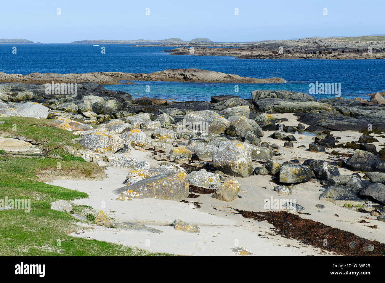 Beach on Omey Island ,Connemara, County Galway, Ireland - Stock Image