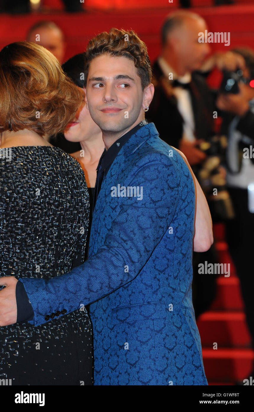 May  22nd, 2014 - Cannes  Xavier Dolan attends the Cannes Film Festival. - Stock Image