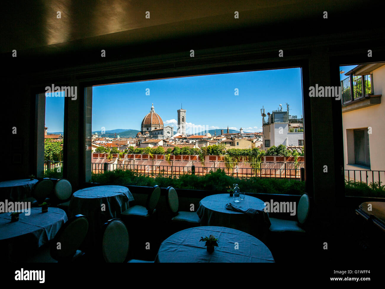 View Of Brunelleschi Dome Duomo From Restaurant Florence