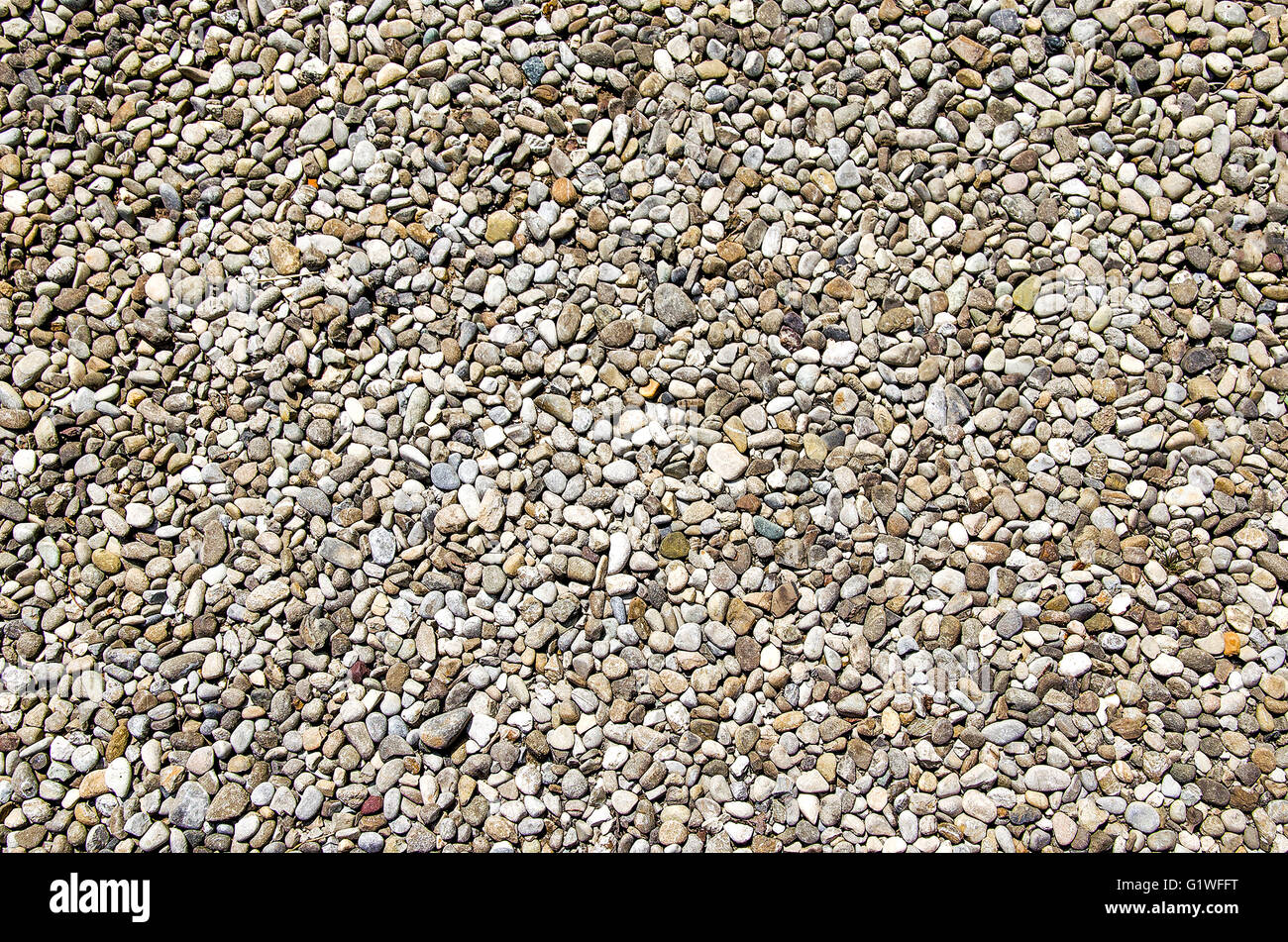 rounded stones texture - Stock Image