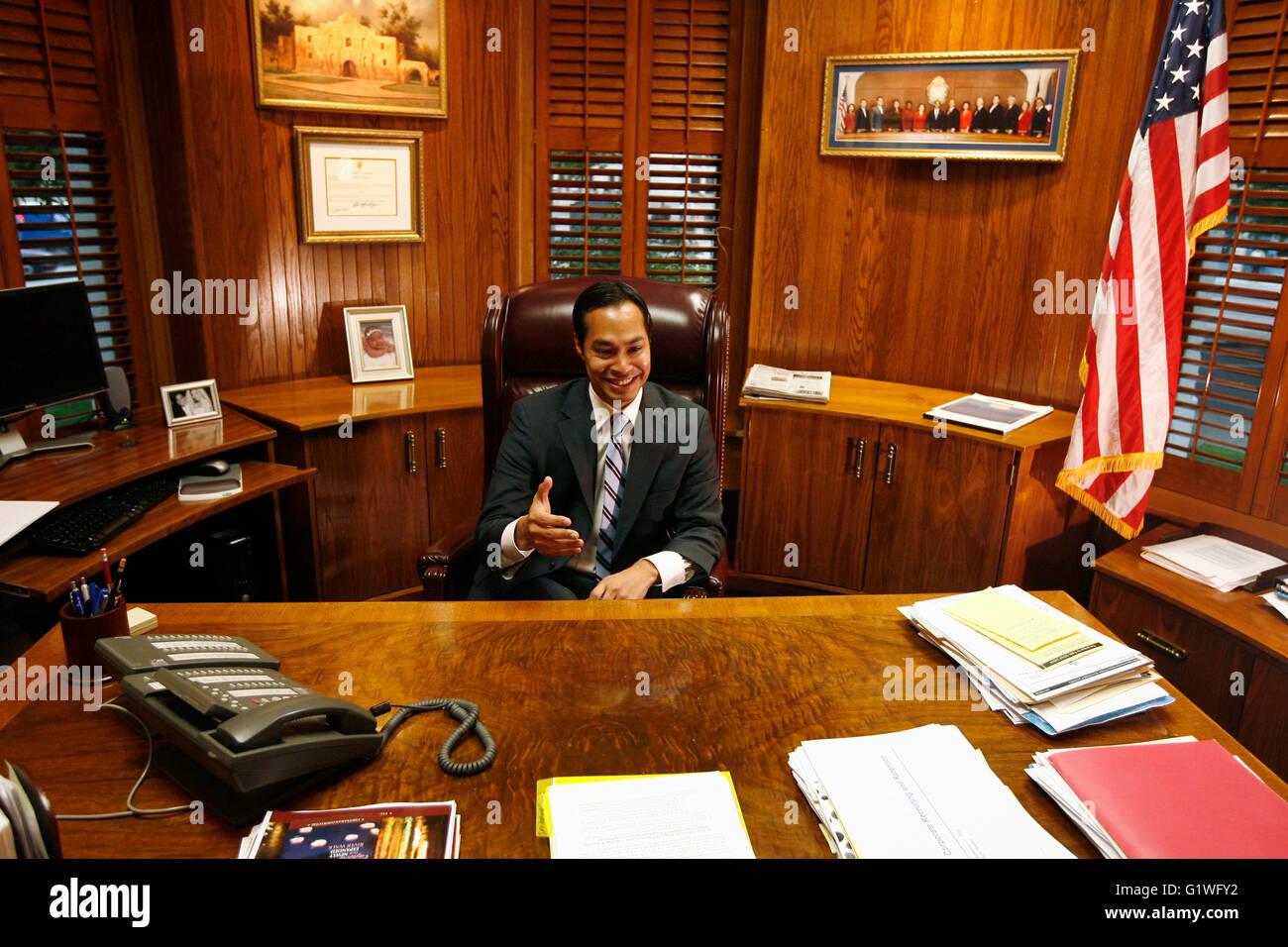San Antonio Mayor Julian Castro In His Office In San