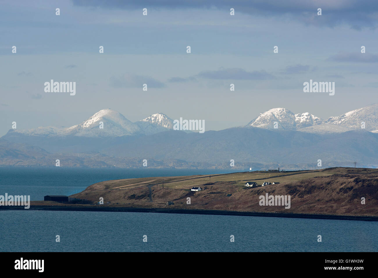 waternish and harris, skye in winter - Stock Image