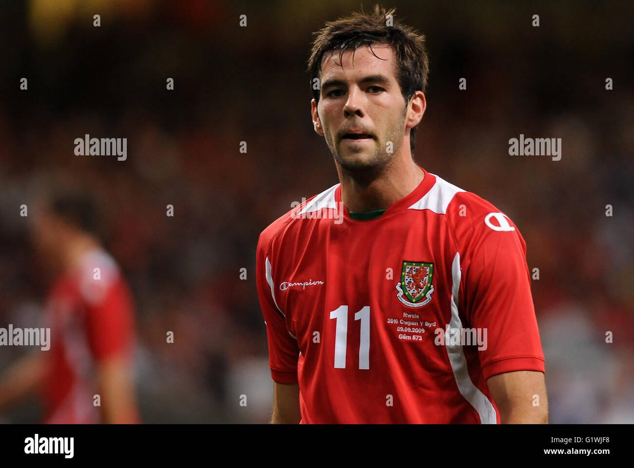 Joe Ledley Wales football player. - Stock Image