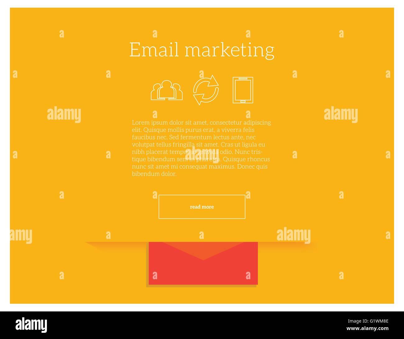 Email Marketing Vector Concept Illustration Website Landing Page