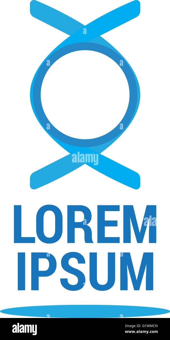 Modern abstract logo design, business icon. Geometric emblem Stock Vector