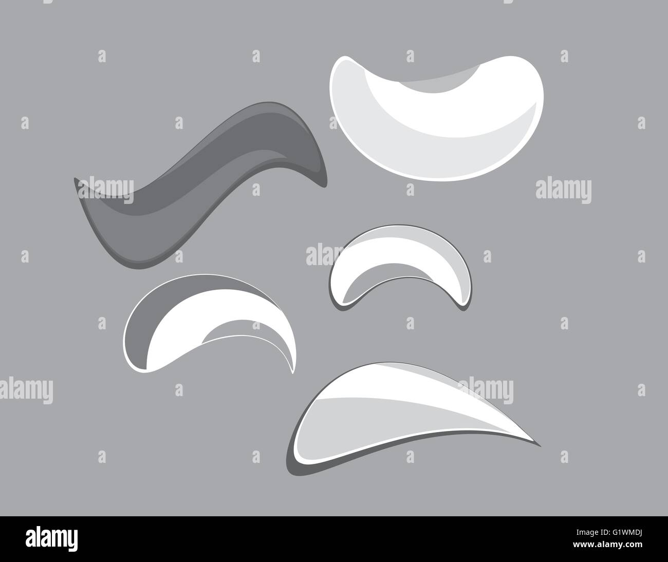 Logo abstract objects set - Stock Image