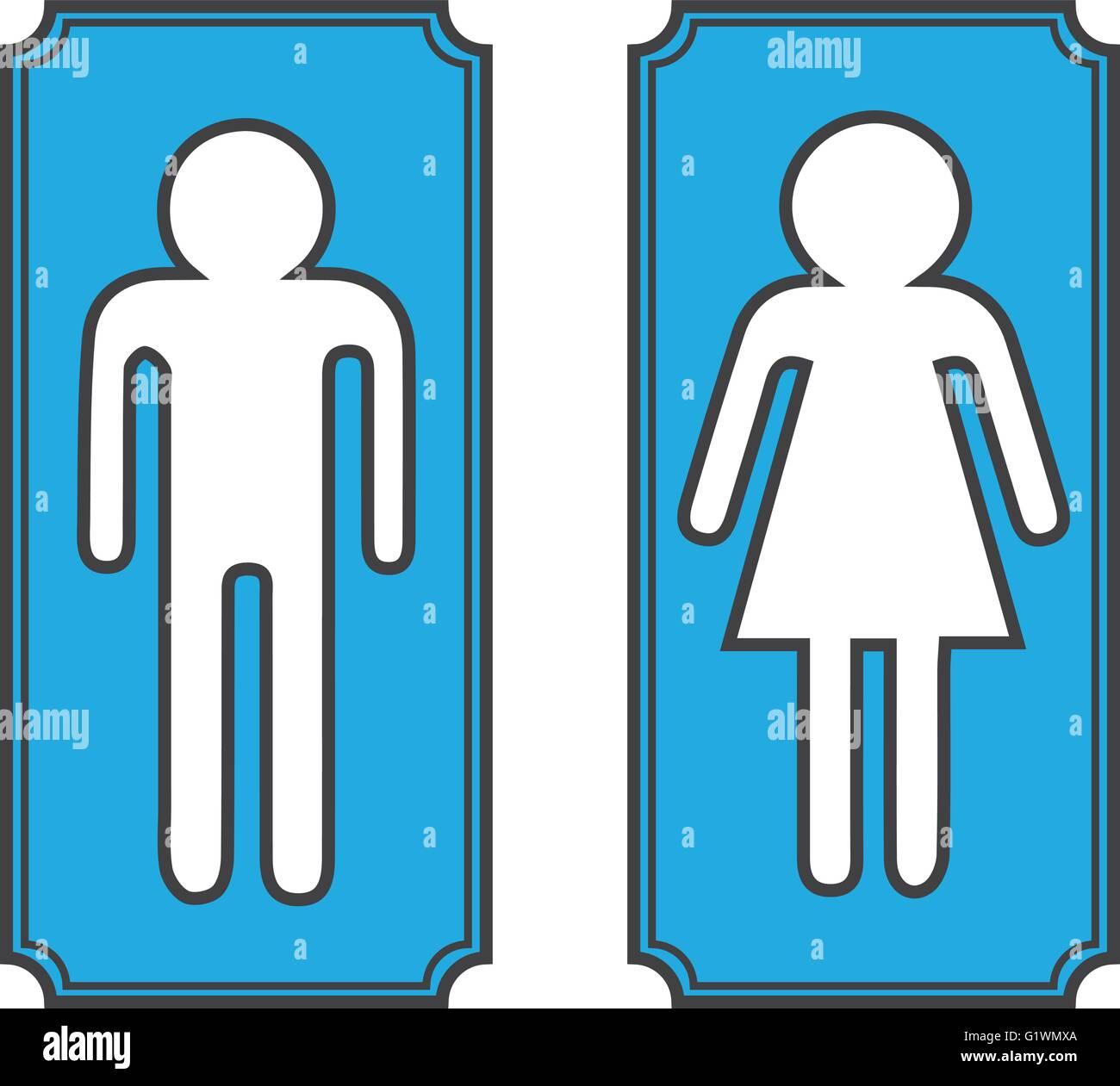 . Restroom banners  toilet signs Stock Vector Art   Illustration