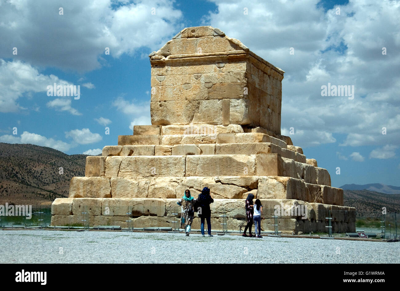 The tomb of Cyrus the Great, died 529 BCE, at Pasargadae in Iran - Stock Image