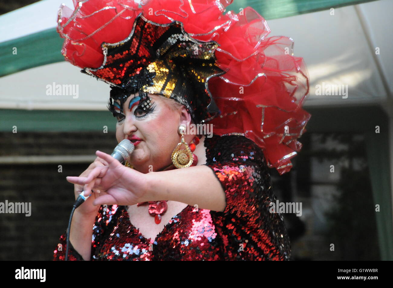 Ruby Venezuela, Drag Artiste from Soho club Madame Jo Jo's. - Stock Image