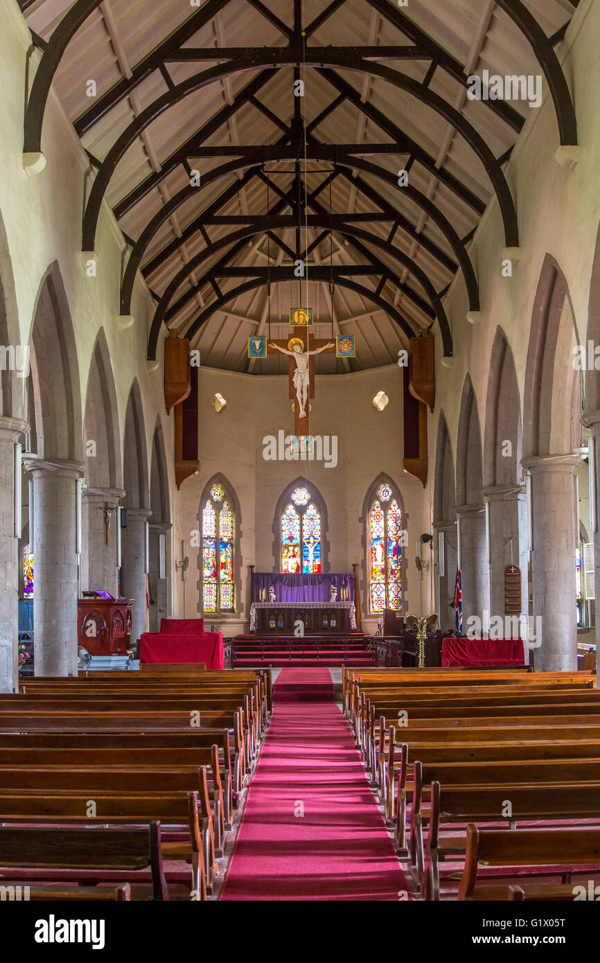 St Georges Anglican Church, Basseterre, St Kitts, West Indies - Stock Image