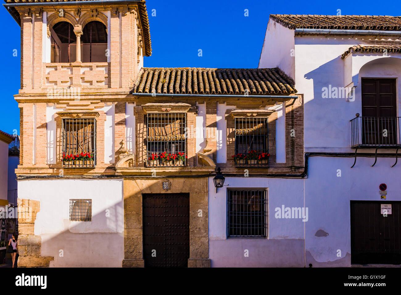 Palatial homes  Córdoba, Andalusia, Spain, Europe Stock