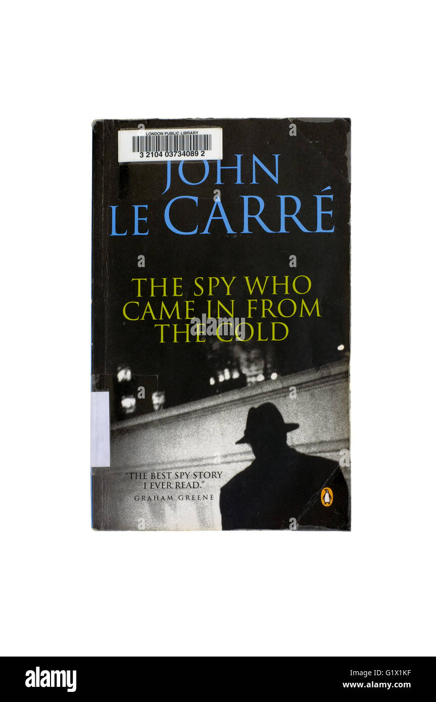 The spy who came in from the cold by John Le Carre photographed against a white background. - Stock Image