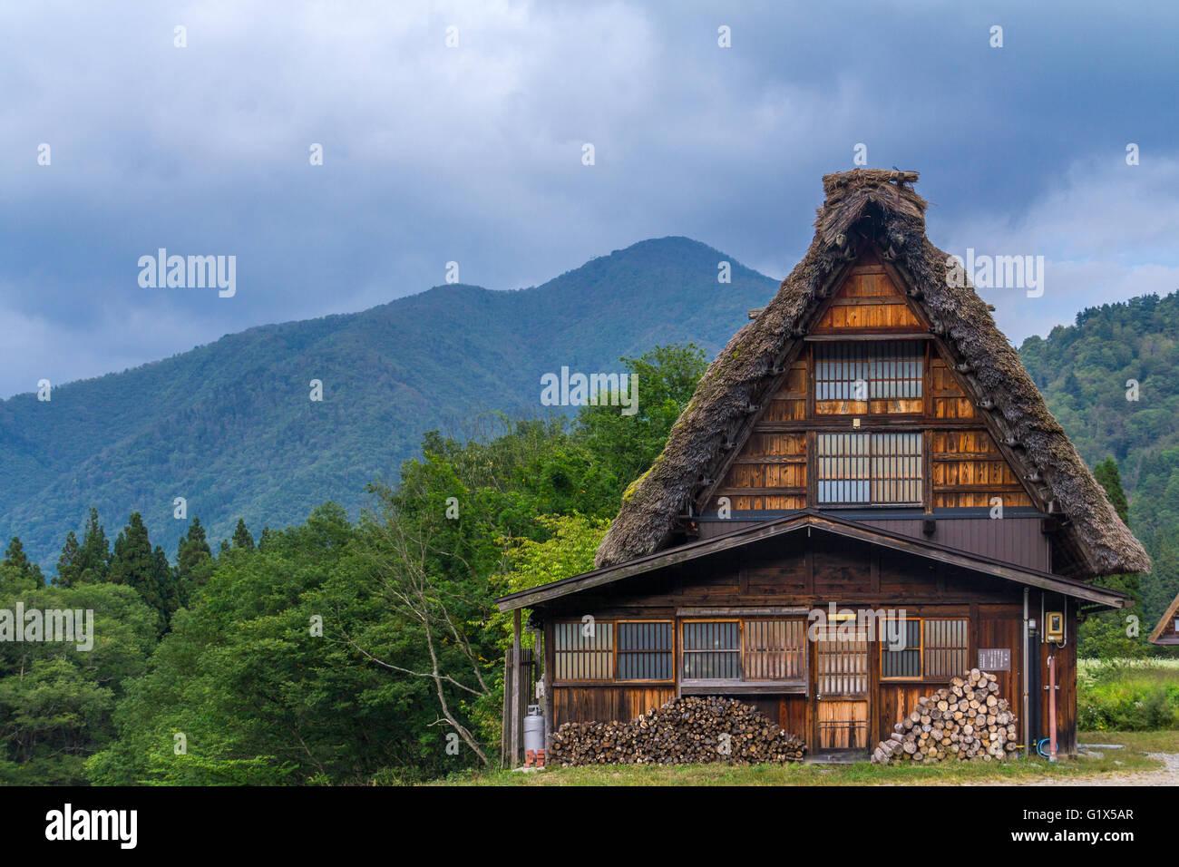 shirakawa-go village japan - Stock Image