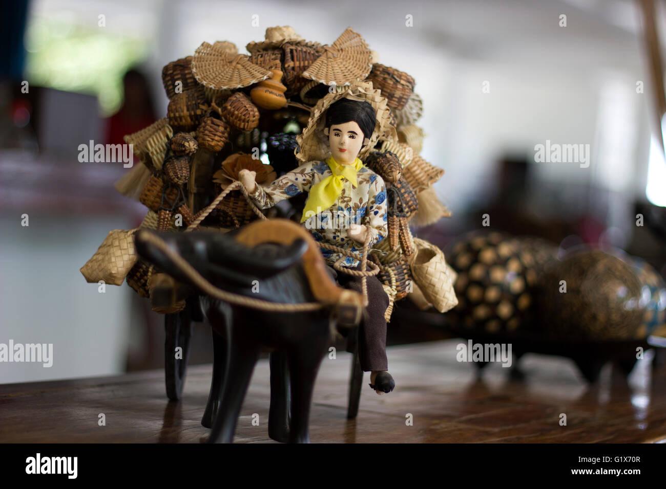 Miniature of a Filipino Farmer - Stock Image