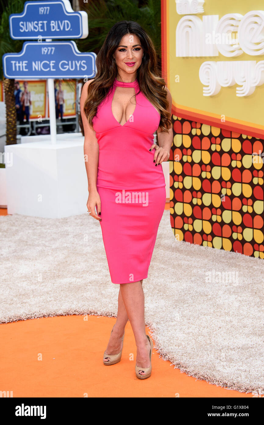 Casey Batchelor at the UK premiere of The Nice Guys - Stock Image