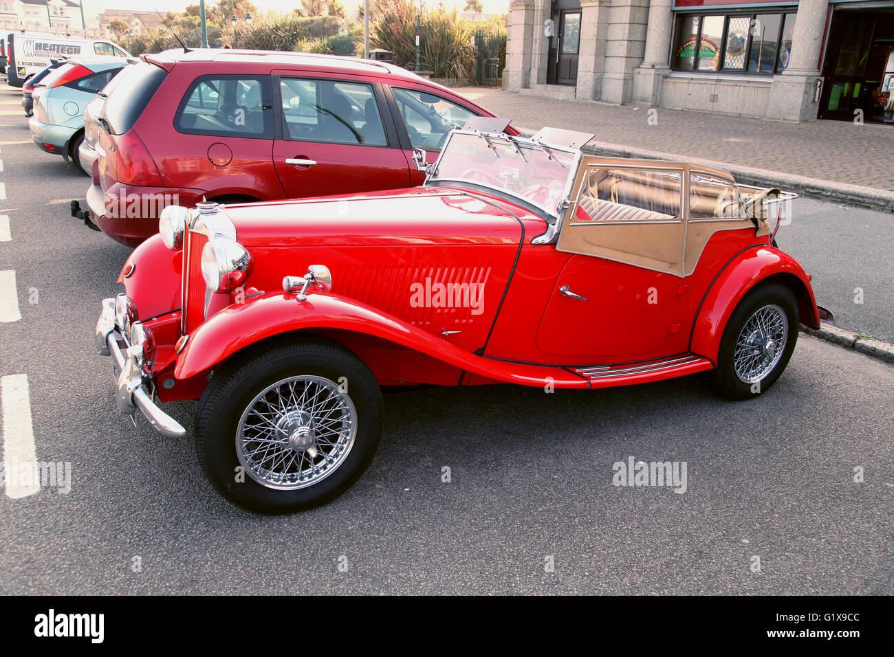 MG British sports car of 1952 - Stock Image